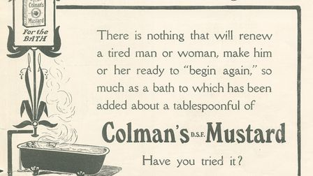 Back when a mustard bath was a popular way to revitalise (Colman's, 1907) (photo: History of Adverti