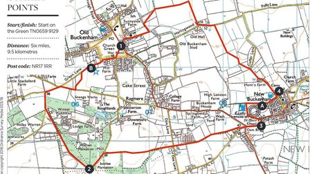 Old Buckenham & New Buckenham walk