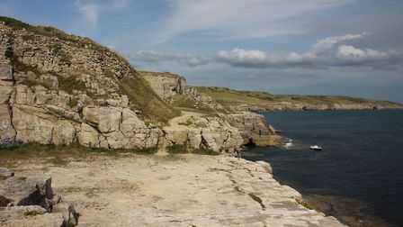 Winspit Quarry looking towards Dancing Ledge and Durlston
