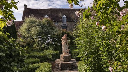 The beautiful gardens at Wigmore Abbey, which John has written about in Wigmore Abbey: The Treasure