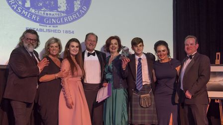 The team from Grasmere Gingerbread pick up their award
