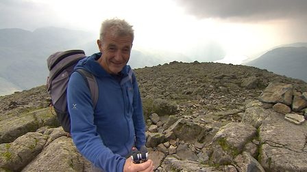 Paul Rose on Scafell for the BBC Two programme The Lakes with Paul Rose
