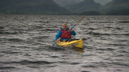 Paul Rose on Derwent Water for the BBC Two programme The Lakes with Paul Rose