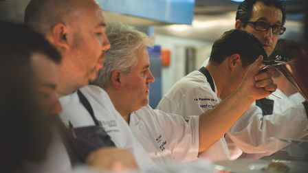 Chefs in the kitchen preparing last year's A Passion to Inspire charity dinner. Picture: Stoke by Na