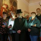 Stephen Mercer (centre) and some of the ghost hunters