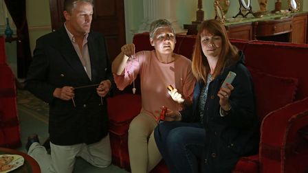 Lytham Hall's general manager Peter Anthony with Deborah Oxley and Joanne Stuchfield in Violet Clift