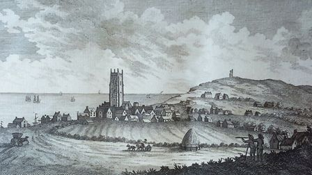 An etching made from Repton's drawing of Cromer (picture: Sally Bate, photographed by Roger Last)