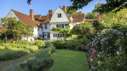 View of the exterior at Paycocke's House and Garden, Essex. Built around 1500 for Thomas Paycocke, t