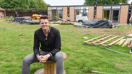 Community Sports Foundation patron, Jake Humphrey, at their new hub called the Nest, nearing complet