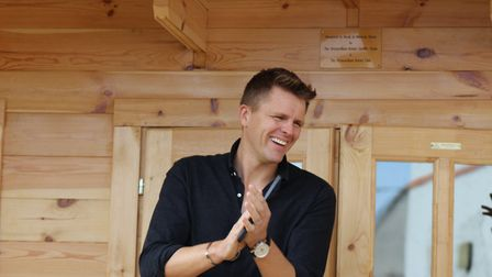 Jake Humphrey opens a new log cabin for Break, for which he is patron (photo: Break)