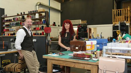 Keith and Gail Hanshaw of the Leather Satchel Company