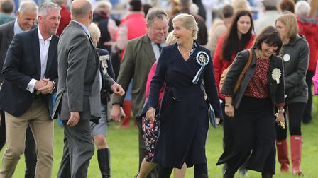 Sophie, the Countess of Wessex on a tour of the show