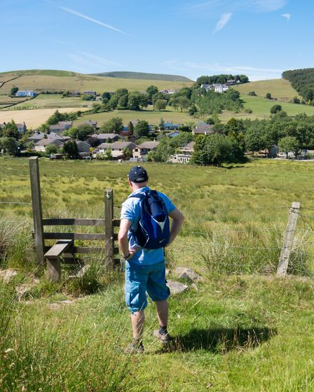 The view back to the village of Newchurch
