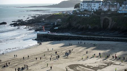 Big crowds turned out at East Looe Beach to commemorate Captain Kenneth Walton
