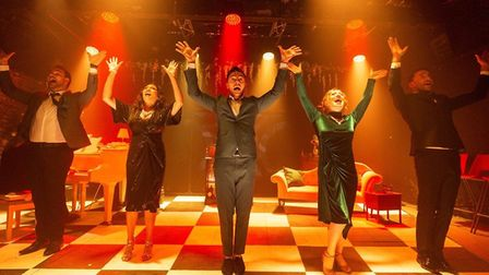 The cast of Putting It Together at Hope Mill Theatre, Manchester. Picture: Phil Tragen