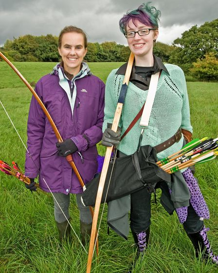 It's not just for bowmen - archers Debbie Cooper and Jenny Astbury