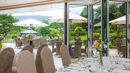 Al fresco dining allows you to enjoy the beautiful scenery of Bowland