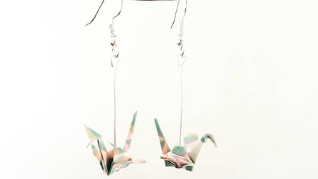 Crane Earrings, £12 Shikisai, Parbold Ayais an origami stylist who folds paper into beautiful, uni
