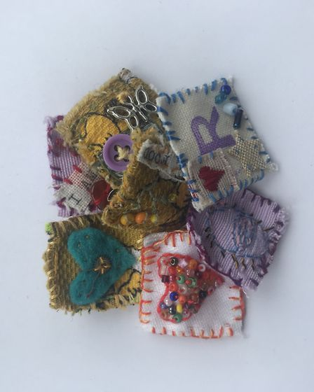 Inch Brooches, £4 The Purple Elephant 64, Preston After years of collecting bits and bobs, Norma F