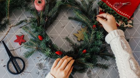 Christmas wreath making. Picture by petrunjela, Getty Images/iStockphoto