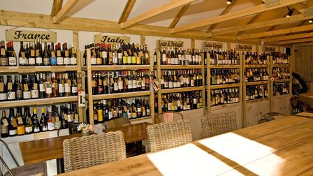 The Wine Shed has around 250 wines that you wouldn't find in a supermarket