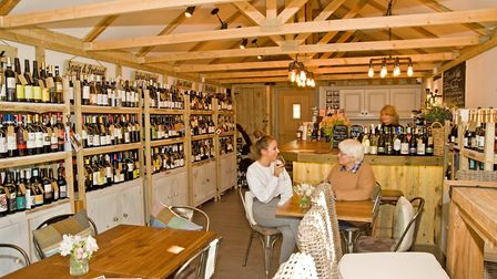 Customers can enjoy sampling wines and buy bottles from the extensive stock