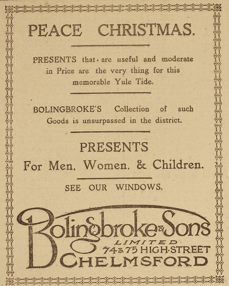 Essex Christmas Adverts from the Past