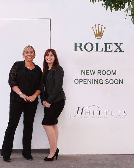 Joanna Rhodes-Valentine, managing director, and Rose Wilson, assistant manager, beside the Whittles