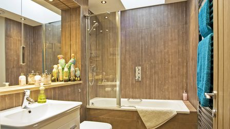 Suite from Mag Norwich, 01603 488770; taps by Hangrohe; shower by Duravit; tiles from C.T.D. Fakenha