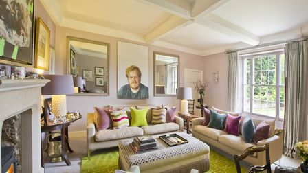 Sofas from Kelling Designs (01328 830449); picture of Thomas by Raoul Martinez; rug by Bombay Sprout