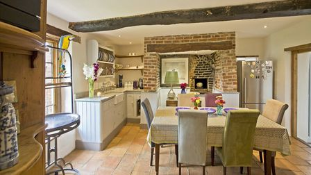Units by Kitchens Etc (01328 823111); lamp - Pooki from Kelling Designs (01328 830449); table from H