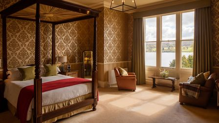 A bedroom suite in the original part of the hotel (Picture: Luke Hayes)