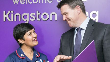 Champi Dona, Senior Sister and Matthew Hall, Orthopaedic Surgeon and Clinical Director of the Kingst