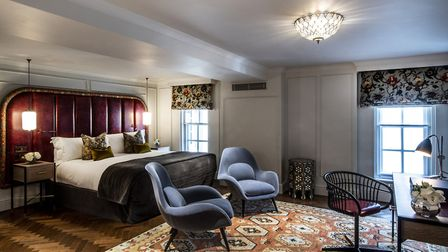 The traditional mixes with modern in the bedrooms