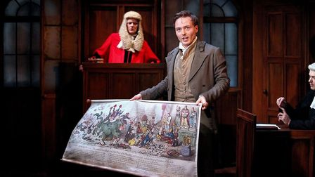 Jospeh Prowen as William Hone in Trial by Laughter at The Lowry