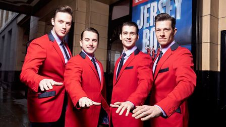 Jersey Boys in Manchester: (from Left) Declan Egan, Michael Watson, Peter Nash and Lewis Griffiths