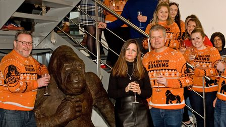 A sparkling Stanley unvieled to the team at Gorilla Glue