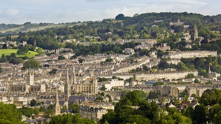 The skyline of Bath, seen from Prior Park Landscape Garden (c) National Trust Images / Andrew Butler