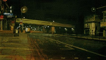 Chris Rigby's haunting image 'Holloway' in mixed media
