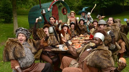 A scene from The Dukes UK Theatre Awardwinning production of The Hobbit which played to sell out aud