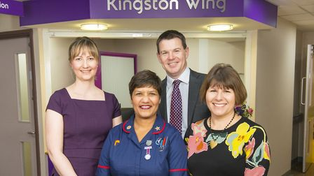 (L-R): Hannah Pitman, Private Patient Services Manager, Champika Dona, Kingston Wing Sister, Matthew