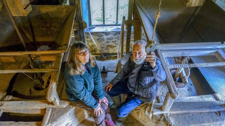 Mike and Vicky Brereton who have lovingly restored the 400 year old Old Mill at Gleaston over the pa