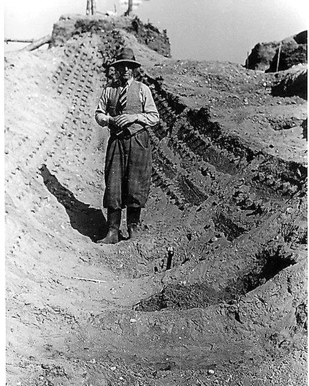 Amateur photographs of the Sutton Hoo ship excavations taken during the summer of 1939 by two school