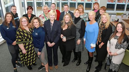 Mentors who gathered at the Danbro offices in Lytham