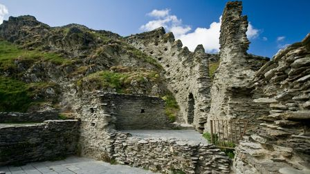 Tintagel Castle ruins. Photo credit: Carolyn Johns, Getty Images/iStockphoto