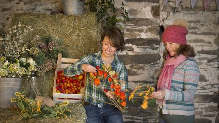 Floristry sessions with Ashley Holden and Debbie Henderson (Picture: Julie Robinson)