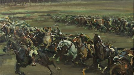Charge of Flowerdew's squadron, 1918, by Sir Alfred Munnings