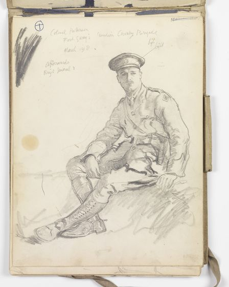 Colonel Patterson, Fort Garry's, Canadian Cavalry Brigade, March 1918, by Sir Alfred Munnings