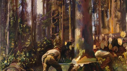 Felling a tree in the Voges, Sir Alfred Munnings