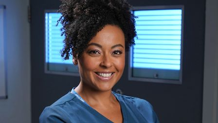 Jaye Jacobs as Donna Jackson in Holby City (c) BBC/Kieron McCarron